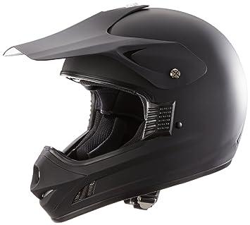 Protectwear Casco de motocross / Enduro llano negro mate H610-MS, tamaño L