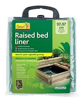 Gardman Grow It Raised Bed Liner 9102 Green Amazoncouk Garden