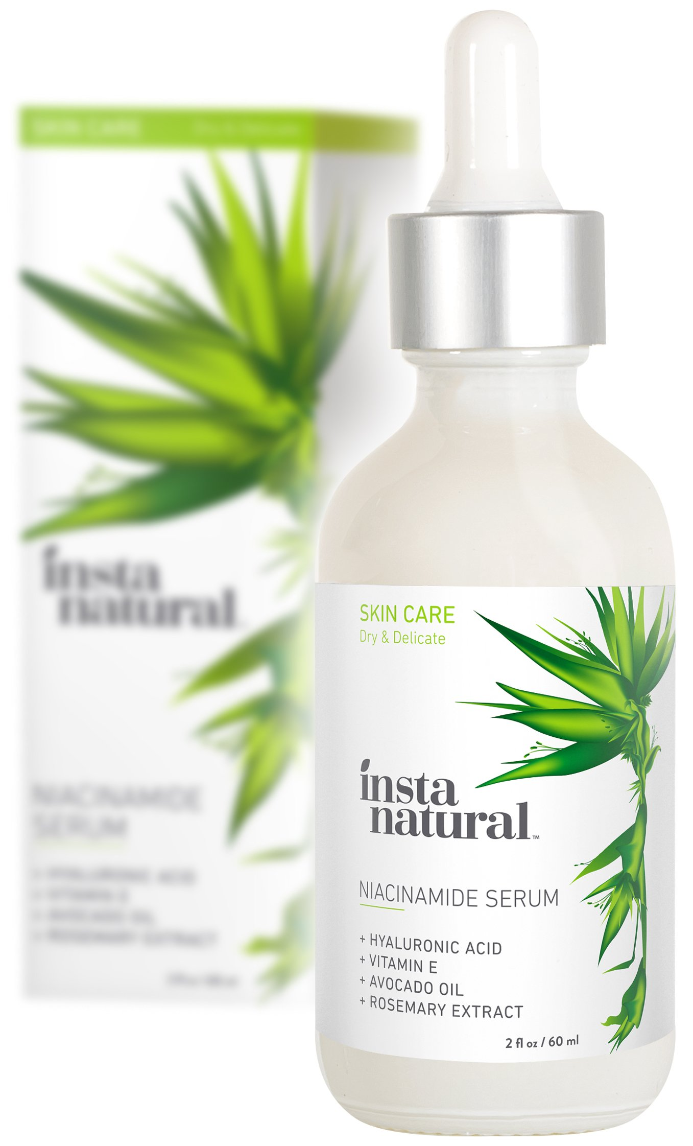 InstaNatural Niacinamide 5% Face Serum - Vitamin B3 Anti Aging Moisturizer for Skin - Diminishes Appearance of Acne, Breakouts, Wrinkles, Fine Lines, Dark Spots, Age Spots & Hyperpigmentation - 2 OZ