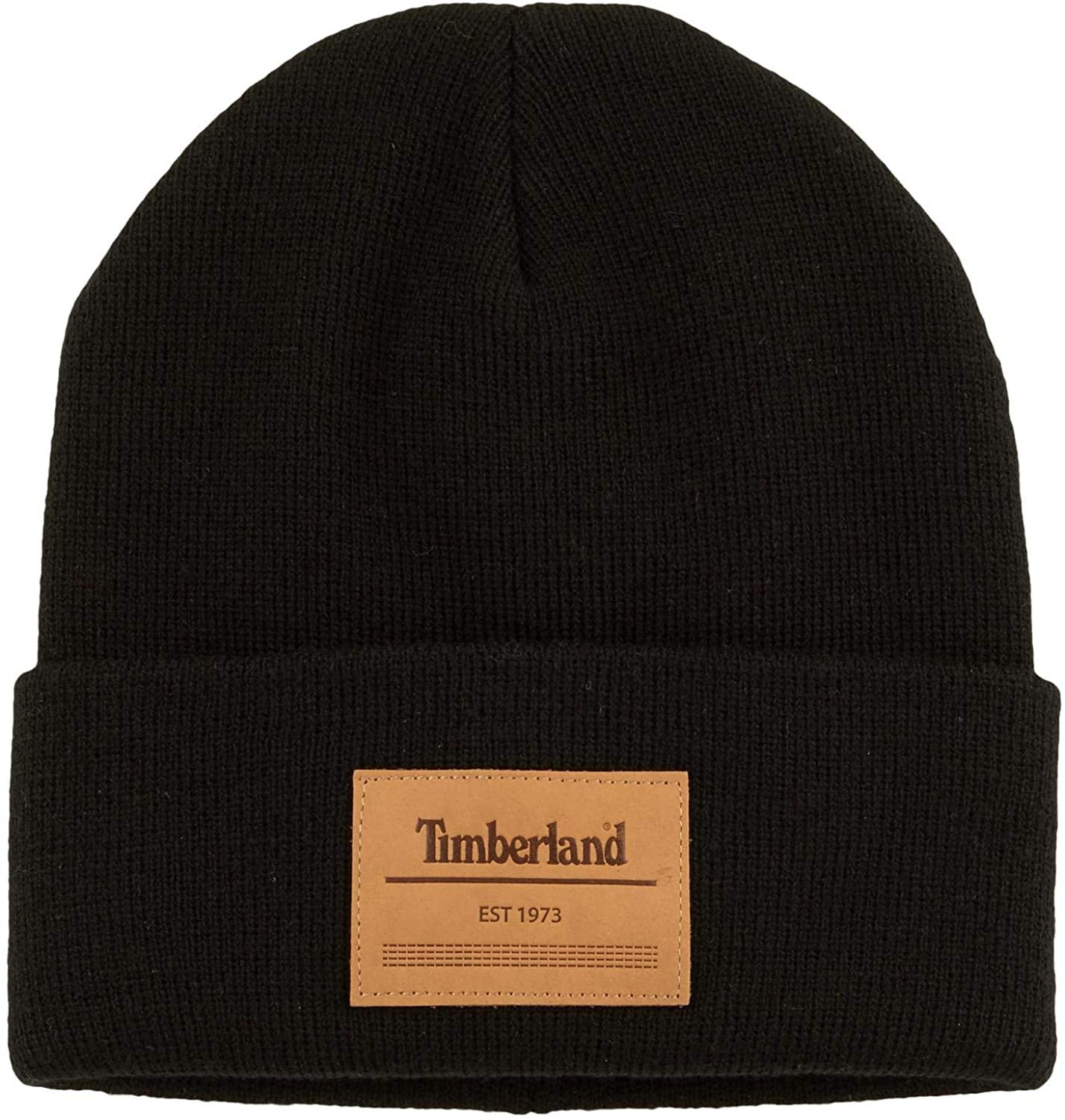 Timberland Men`s Heat Retention Watch Cap Knit Beanie with Leather ...