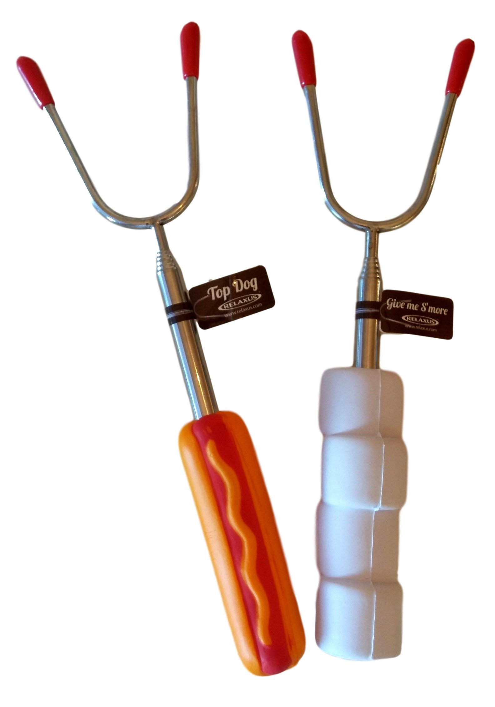 Relaxus Fun Forks, Extendable Bbq / Campfire Forks. 10'' - 34''. 2 forks