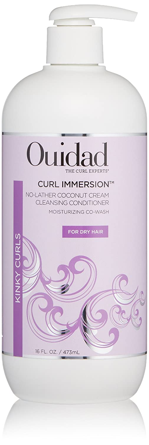 OUIDAD Curl Immersion No-Lather Coconut Cream Cleansing Conditioner, 16 oz. B01N4BHJR7