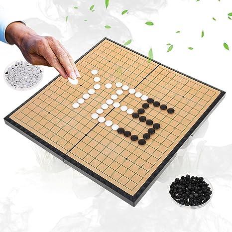 Dioche Juego de Mesa Go, Juego de Juego para 2 Jugadores Tablero Plegable Magnético Weiqi Educational Games para Niños Adultos: Amazon.es: Deportes y aire libre
