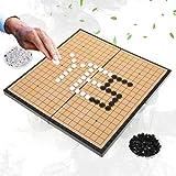 Dioche Juego de Mesa Go, Juego de Juego para 2 Jugadores Tablero Plegable Magnético Weiqi Educational Games para Niños…