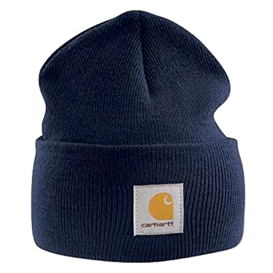 Carhartt - Acrylic Watch Cap - Navy Branded Beanie Ski Hat at Amazon ... cc613391535