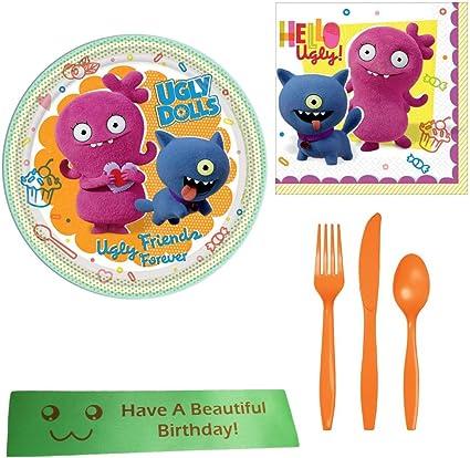 Amazon.com: Ugly Dolls - Kit de fiesta de cumpleaños con ...