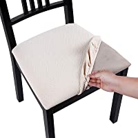 Homaxy Premium Jacquard Dinning Chair Seat Covers, Spandex Stretch Dining Room Chair Seat Cover, Durable Protectors…