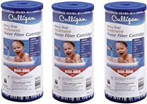 Culligan R50-BBSA Whole House Heavy Duty Water Filter Cartridge, 24,000 Gallons, 3 Pack