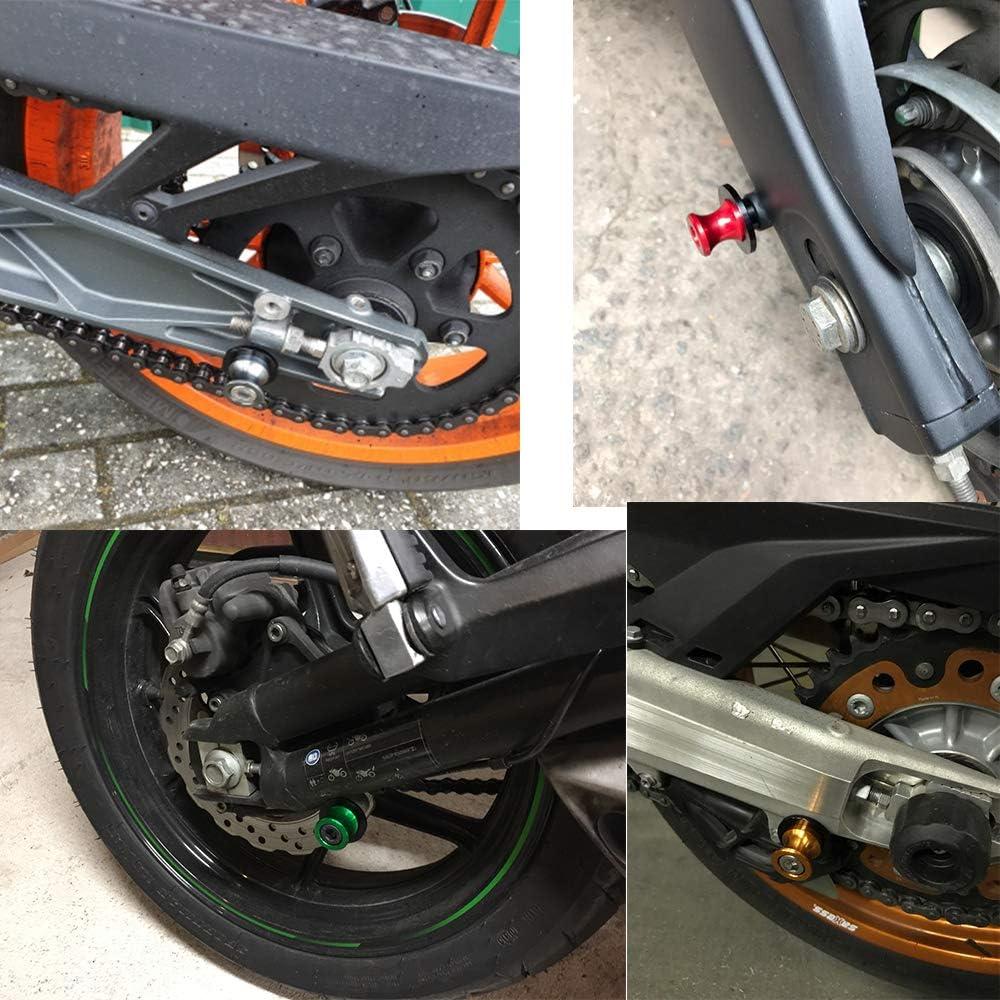 2pcs Universel Diabolos M8*1.5 CNC Aluminum pour Kawasaki ZX6R 2013 2014 2015 2016 ZX10R 2013 2014 2015 2016-Titane