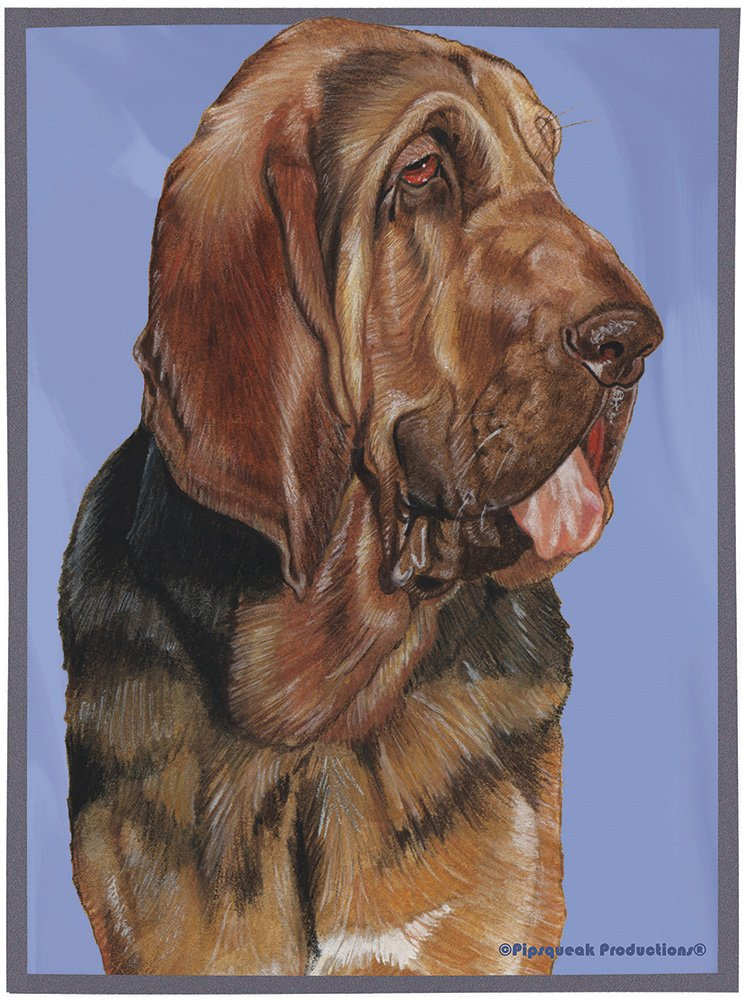Best of Breed Bloodhound Dog Breed Fleece Blanket