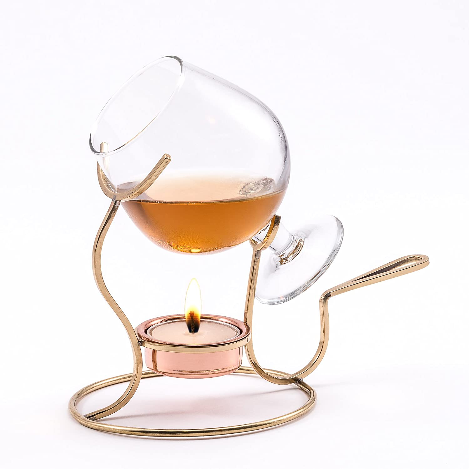 Old Dutch Brandy Warmer with Tea Light and Glass Snifter Old Dutch Int'l LTD 839