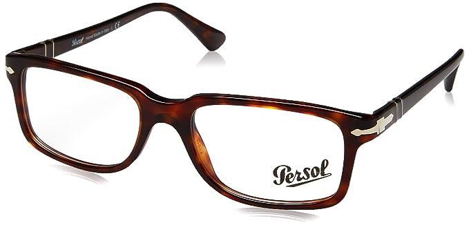 ca48dfdd25 Amazon.com  Persol Men s PO3130V Eyeglasses Havana 54mm  Clothing