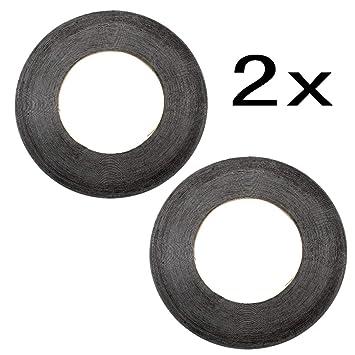 JZK 2 mm x 50 m cinta adhesiva capa doble cara pegatina cinta adhesiva para la