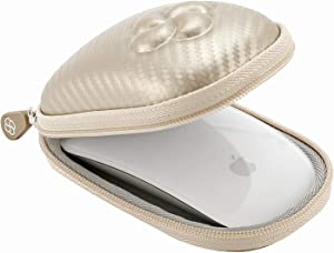 Koonice Hard Case Compatible for Apple Magic Mouse (I and II 2nd Gen) Including Carabiner (Gold)