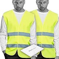 Chalecos de Seguridad amarillo Reflectante. Doble Cinta Reflectiva Alta Visibilidad Transpirable y ligero. Homologado…