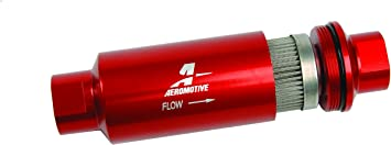 Amazon.com: Aeromotive 12304 Red Fuel Filter (In-Line Filter/100-Micron):  Automotive | Aeromotive Fuel Filter |  | Amazon