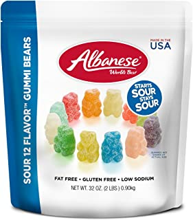 product image for Albanese Sour 12 Flavor Gummi Bears 32 Ounce 6 Count