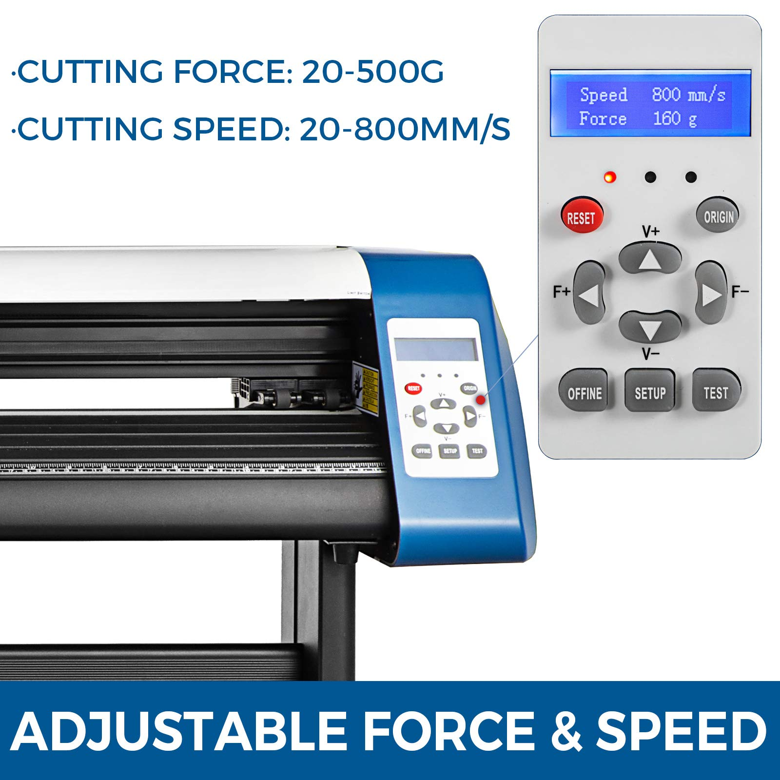 VEVOR Vinyl Cutter 28 inch Vinyl Cutter Machine Semi-Automatic DIY Vinyl Printer Cutter Machine Manual Positioning Sign Cutting with Floor Stand Signmaster Software by VEVOR (Image #5)