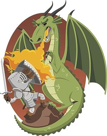 Amazon Com Knight In Shining Armor Fighting Green Firey Dragon Cartoon Vinyl Decal Sticker 8 Tall Automotive Green dragon armor & mask. knight in shining armor fighting green