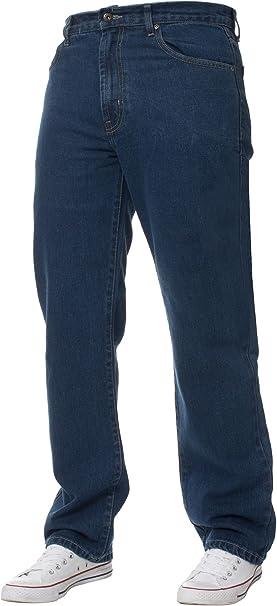 Mens Work Heavy Duty Denim Jeans Gents Straight Leg Jeans Pants All Waist /& Size