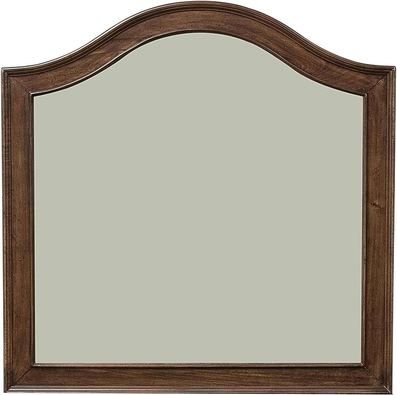 "Liberty Furniture Industries Traditions Vanity Desk Mirror, 27"" x 2"" x 27"", Rustic Cherry"