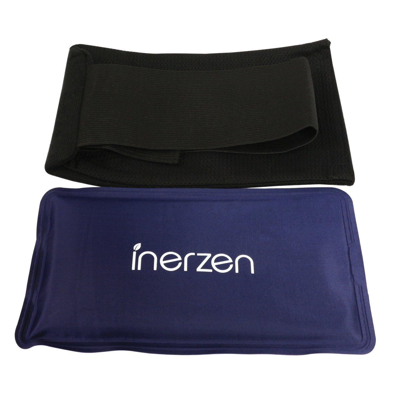 Inerzen Body and Knee Hot and Cold Gel Pad Therapy Adjustable Wrap for Arms, Legs, Thighs, Biceps, Elbows, Sports Pain Injuries, Muscle, Stress Relief by Inerzen