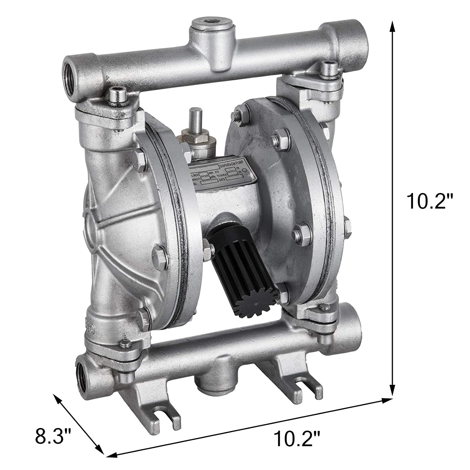 Happybuy Air-Operated Double Diaphragm Pump 1 inch Inlet /& Outlet Aluminum 35 GPM Max 120PSI for Chemical Industrial Use QBY4-25L-1