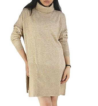 70efa8d087b YSJERA Women s Oversized Loose Turtleneck Long Sleeves Pullover Knit Sweater  Top Shirts Beige
