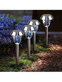Solar Pathways Lights Makes Garden Path U0026 Flower Beds Look Great; D Runze  4PCS