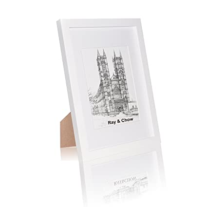 Amazon Ray Chow A4 White Picture Frame Solid Wood Glass