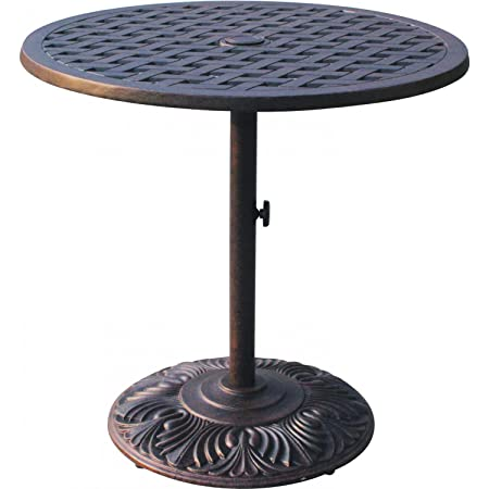 Darlee Series 30 30 Round Patio Pub Table in Antique Bronze