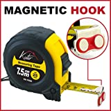 Measuring Tape Measure by Kutir - 25 Foot Retractable Heavy Duty with Magnetic Hook, Metric and Inches Measurement, Shock Absorbent Rubber Case - Professional Ruler For Carpenter, Construction, DIY