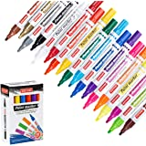ZEYAR Paint Pens, Expert of Rock Painting, Oil-Based, Medium Point,18 Colors, Water and Fade Resistant, Odorless, Xylene Free, Metal Penholder, Professional Paint Markers Manufacturer
