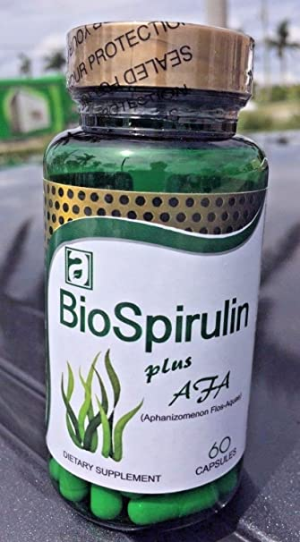 BioSpirulin Plus AFA (Aphaminozen Flos - Aquae) Dietary Supplement Espirulina