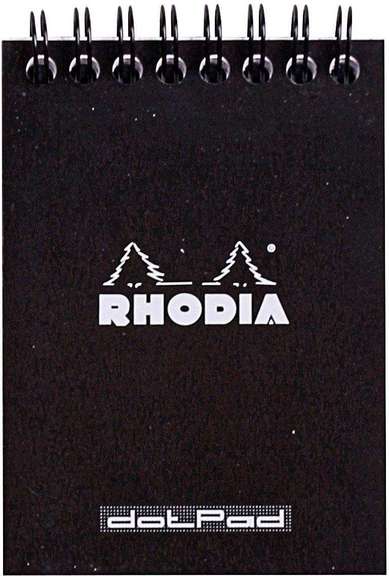 Rhodia - Bloc Spirale 80 Feuilles Détachables - Petits carreaux 5x5 - Format A7 (7.4 x 10.5 cm) - Orange C Rhodia 11500C reikos_0017921934_OS_1865 Techniques artistiques