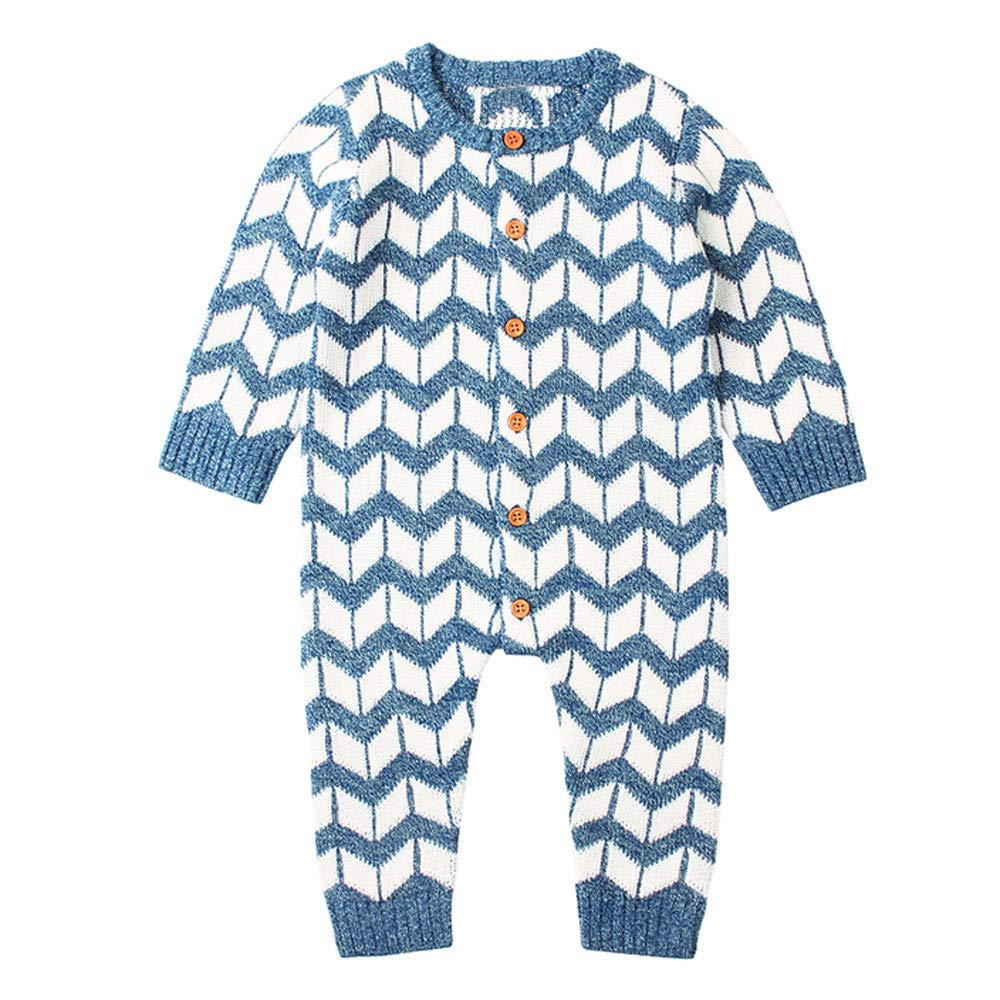 Clothes Set Clearance, Boys Girls Knitted Winter Romper Toddler Buttons Jumpsuit for 0-2 Years Old Baby Outfits JUH-852
