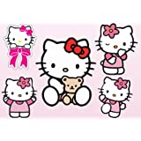 Stickersnews - Stickers enfant planche de stickers Hello Kitty réf 9540 Dimensions - 30x20cm