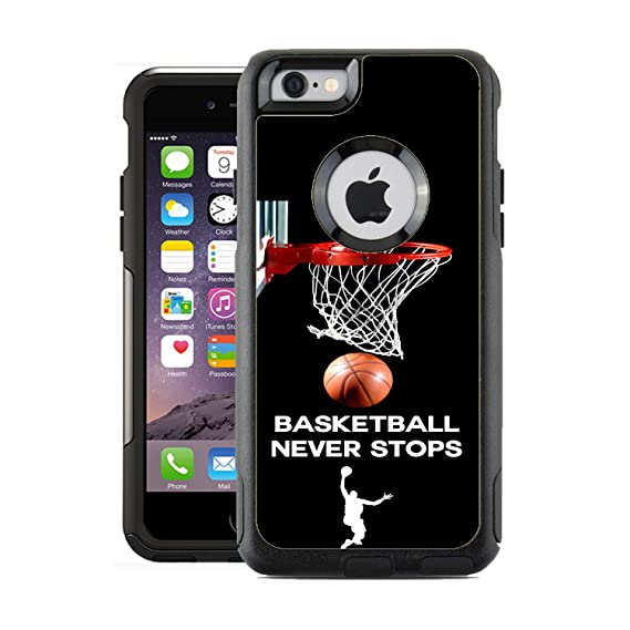 huge discount be698 867c7 Protective Designer Vinyl Skin Decals for OtterBox Commuter iPhone 6 / 6S  Case - Basketball Never Stops Design Patterns Only SKINS and NOT Case