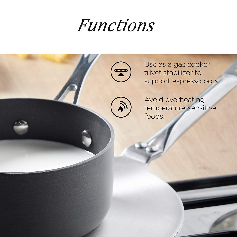 RAINBEAN Difusor de calor Disco adaptador de inducción acero inoxidable de 19 cm