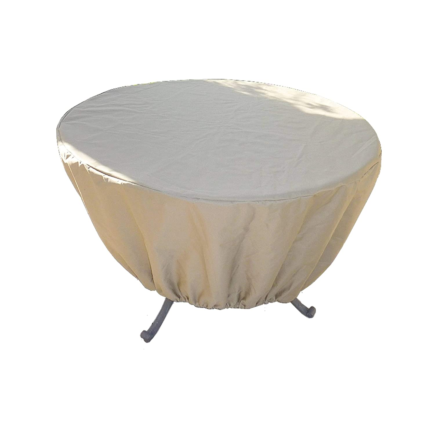 Formosa Covers Premium Tight Weave Round or Square Table Cover up to 50 Dia. x 25 H in Taupe