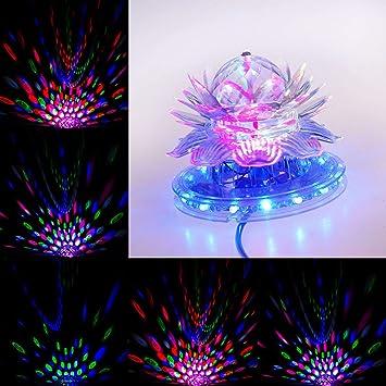 SSCJ Luces de Discoteca Bola 9 Color Luces de Fiesta LED ...