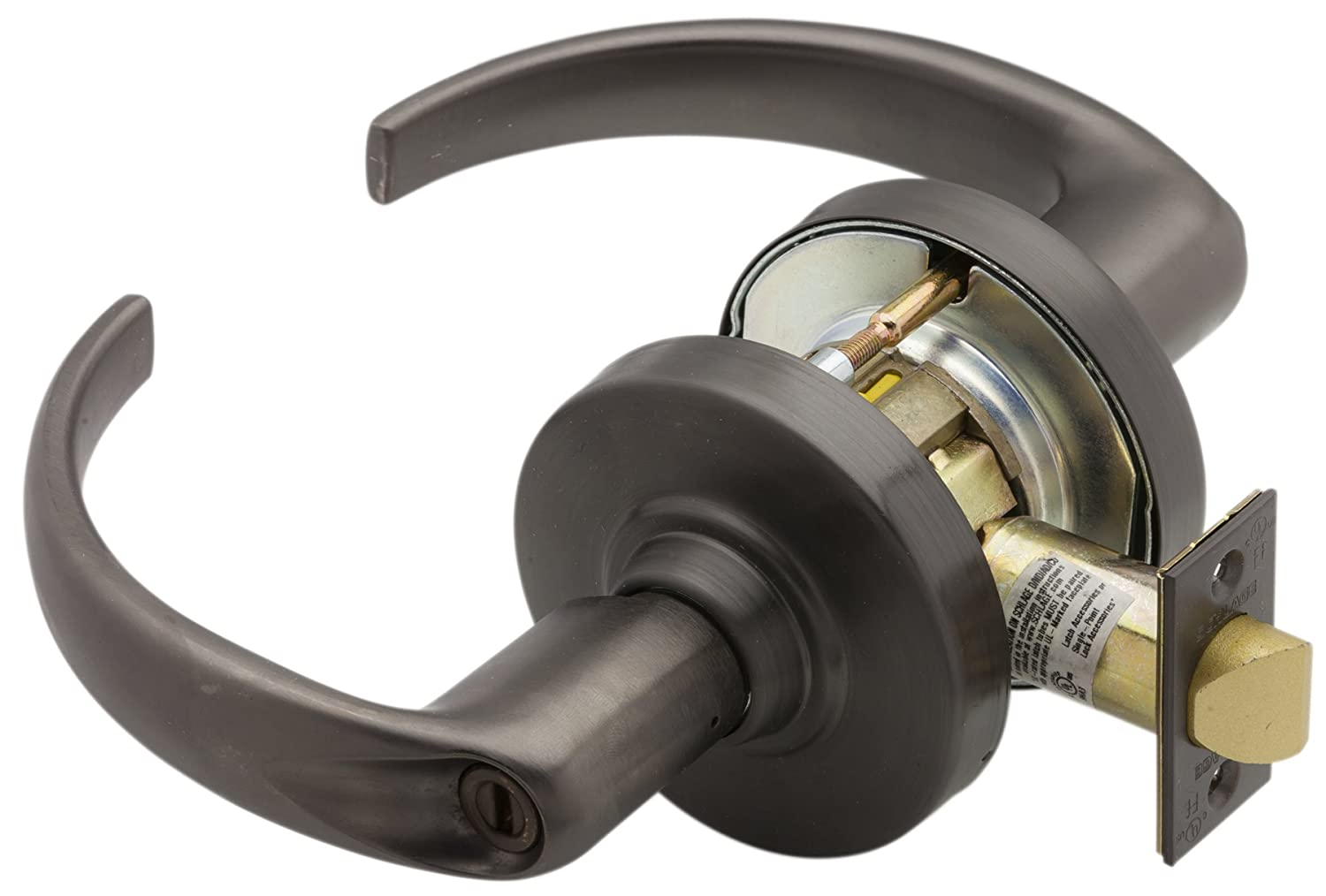 Oil Rubbed Bronze Finish Sparta Lever Design Privacy Function Schlage commercial ND40SPA613 ND Series Grade 1 Cylindrical Lock