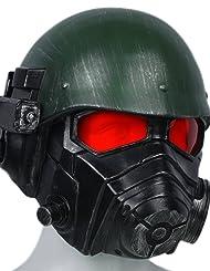 Xcostume NCRレンジャーコスプレマスク Veteran Rangerヘルメット 仮面 ゲーム オリーブグリーン ブラック 樹脂 変装 仮装 ハロウィン クリスマス イベント パーティー 文化祭り 男性 フリーサイズ