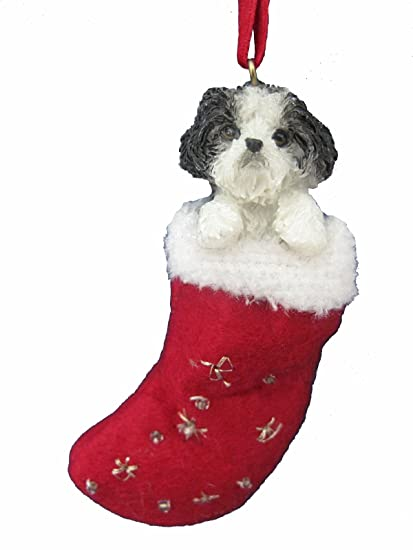 Amazon.com: Shih Tzu Christmas Stocking Ornament with