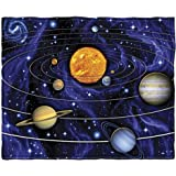 Solar System Fleece Throw Blanket