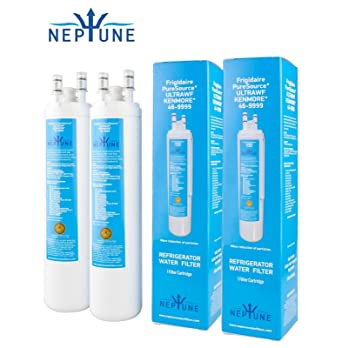 Neptune Water Filters Compatible with/replacement for ULTRAWF Frigidaire  KENMORE 46-9999 242017800 242017801 PS2364646 A0094E28261 (Pack of 2)