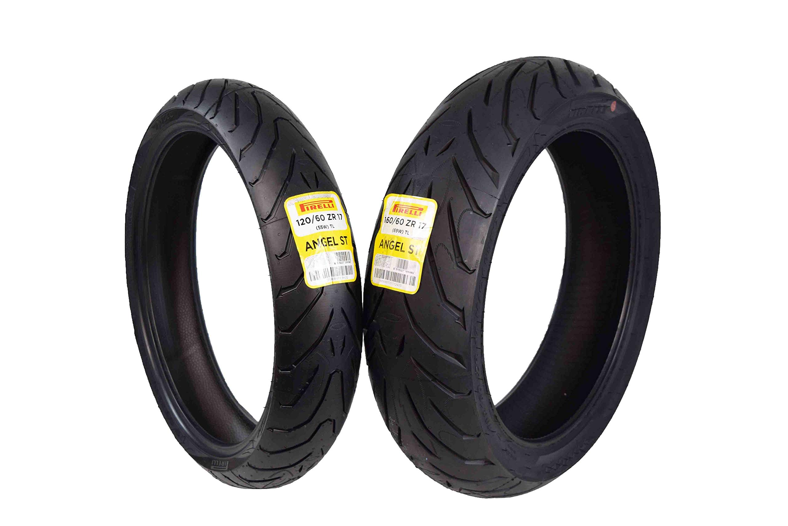 Pirelli Angel ST Front & Rear Street Sport Touring Motorcycle Tires (1x Front 120/60ZR17 1x Rear 160/60ZR17) by Pirelli