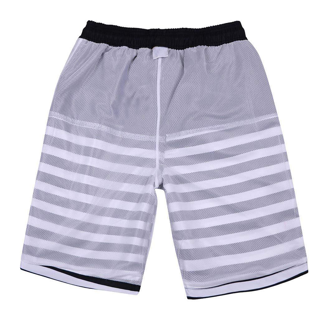 3X Beach Shorts Beach Shorts with Pockets,Swim Shorts Big and Tall,Mens Shorts Swim Trunks Quick Dry Beach Surfing Running Swimming Watershort Black
