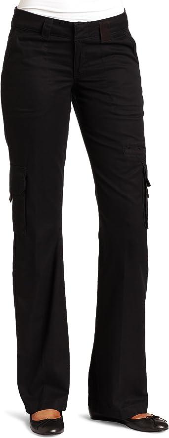 Amazon Com Dickies Pantalones Tipo Cargo Corte Recto Relajados Para Mujer Clothing