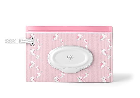 Little Martins - Juego de 3 bolsitas dispensadoras de toallitas húmedas, reutilizables, recargables, sin BPA, 30 toallitas Universal: Amazon.es: Bebé